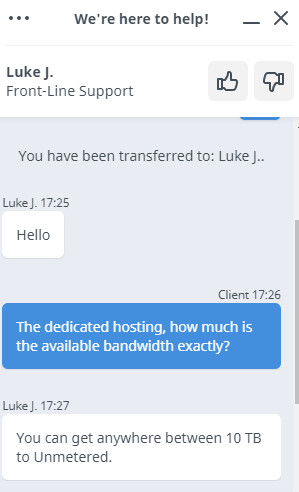HostWinds Live Chat